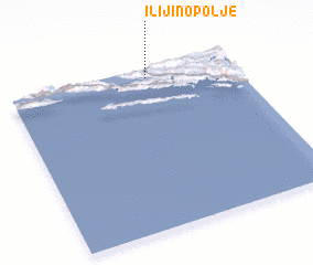 3d view of Ilijino Polje