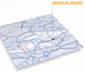 3d view of Srednji Lipovac