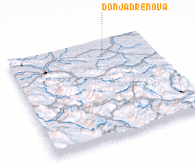 3d view of Donja Drenova