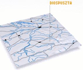 3d view of Dióspuszta
