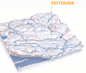 3d view of Puste Njive