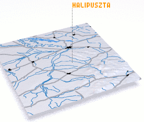 3d view of Halipuszta