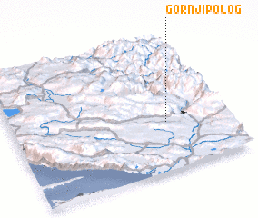 3d view of Gornji Polog