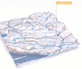 3d view of Kruševo