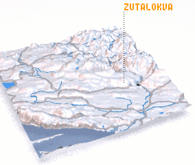 3d view of Žuta Lokva