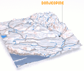 3d view of Donje Opine