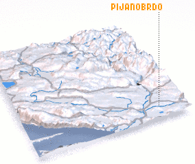 3d view of Pijano Brdo