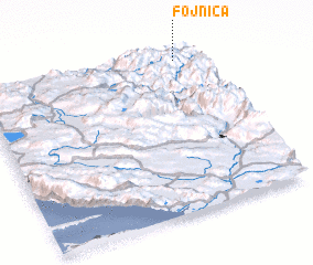 3d view of Fojnica