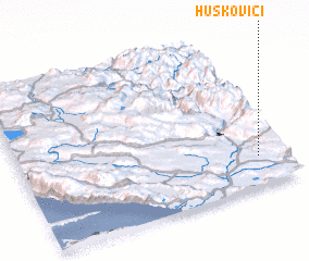3d view of Huskovići