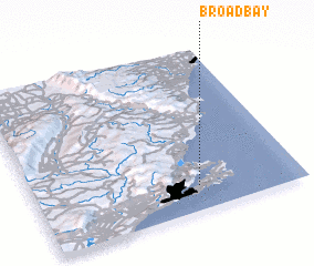 3d view of Broad Bay