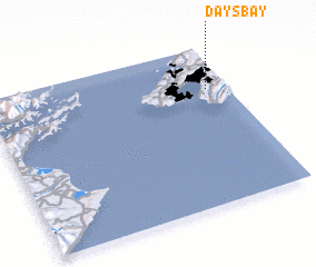 3d view of Days Bay