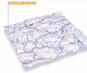 3d view of Gornja Borina