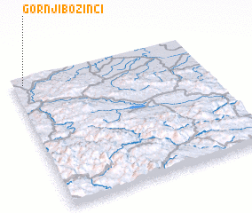 3d view of Gornji Bozinci
