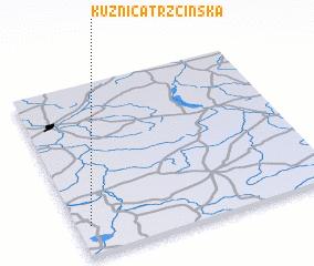3d view of Kuźnica Trzcińska