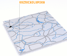 3d view of Kuźnica Słupska