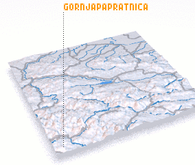 3d view of Gornja Papratnica