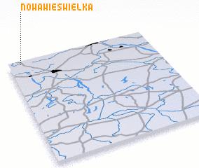 3d view of Nowa Wieś Wielka