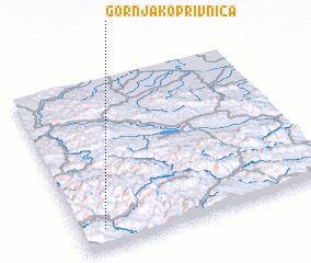 3d view of Gornja Koprivnica