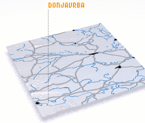 3d view of Donja Vrba