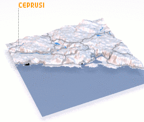 3d view of Čeprusi