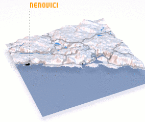 3d view of Nenovići