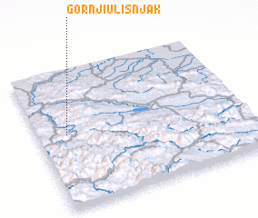 3d view of Gornji Ulišnjak