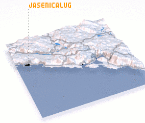 3d view of Jasenica Lug