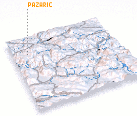 3d view of Pazarić