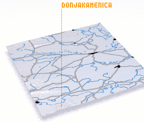 3d view of Donja Kamenica