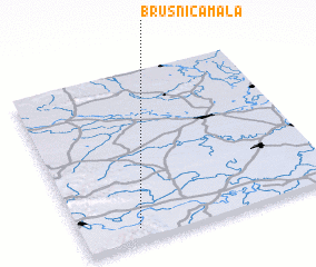 3d view of Brusnica Mala