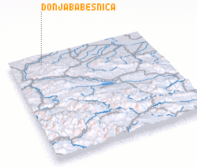 3d view of Donja Babešnica