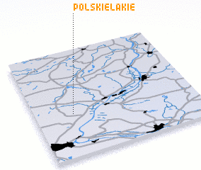 3d view of Polskie Łąkie