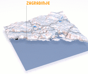 3d view of Zagradinje