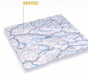 3d view of Kostići