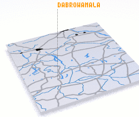 3d view of Dąbrowa Mała