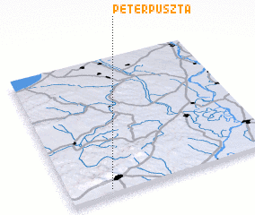 3d view of Péterpuszta