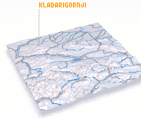 3d view of Kladari Gornji