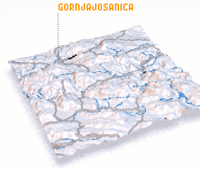 3d view of Gornja Jošanica