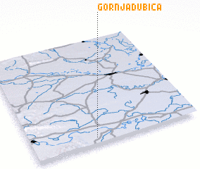 3d view of Gornja Dubica