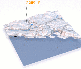 3d view of Zaušje