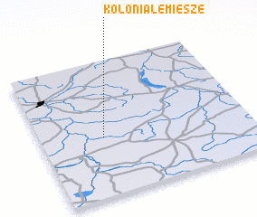 3d view of Kolonia Lemiesze