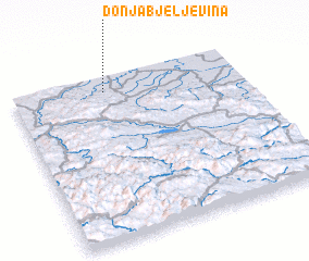 3d view of Donja Bjeljevina