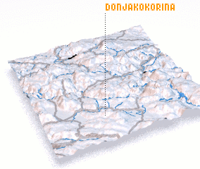 3d view of Donja Kokorina