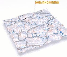 3d view of Donja Kokorina