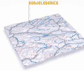 3d view of Donje Ledenice