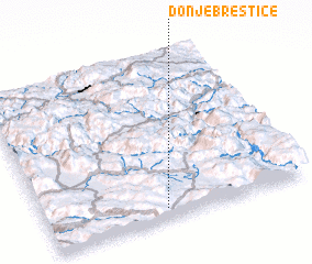 3d view of Donje Brestice