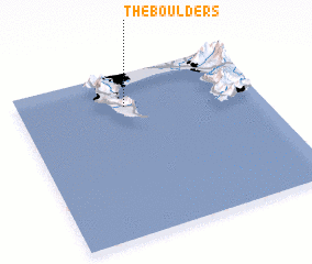 3d view of The Boulders
