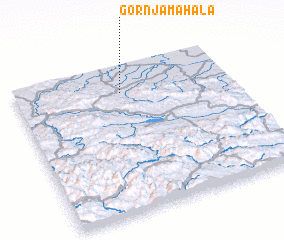 3d view of Gornja Mahala