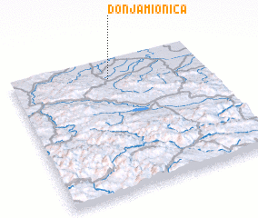 3d view of Donja Mionica