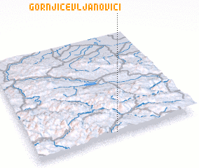 3d view of Gornji Čevljanovići